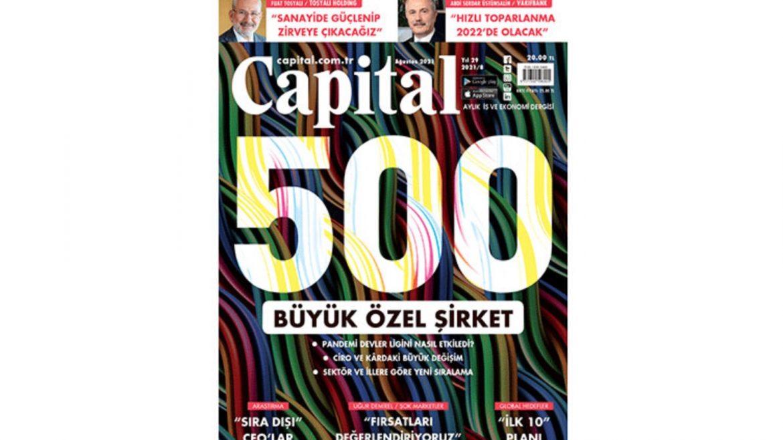 """Kadoil ve Kadooğlu Yağ on the """"Capital 500"""" list"""